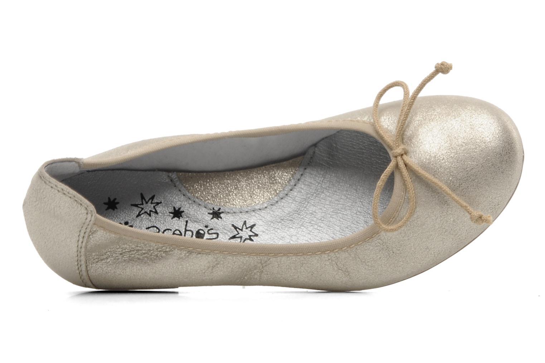 Ballerinas Acebo's Camelia gold/bronze ansicht von links