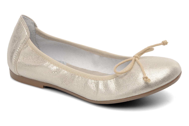 Ballerines Acebo's Camelia Or et bronze vue détail/paire