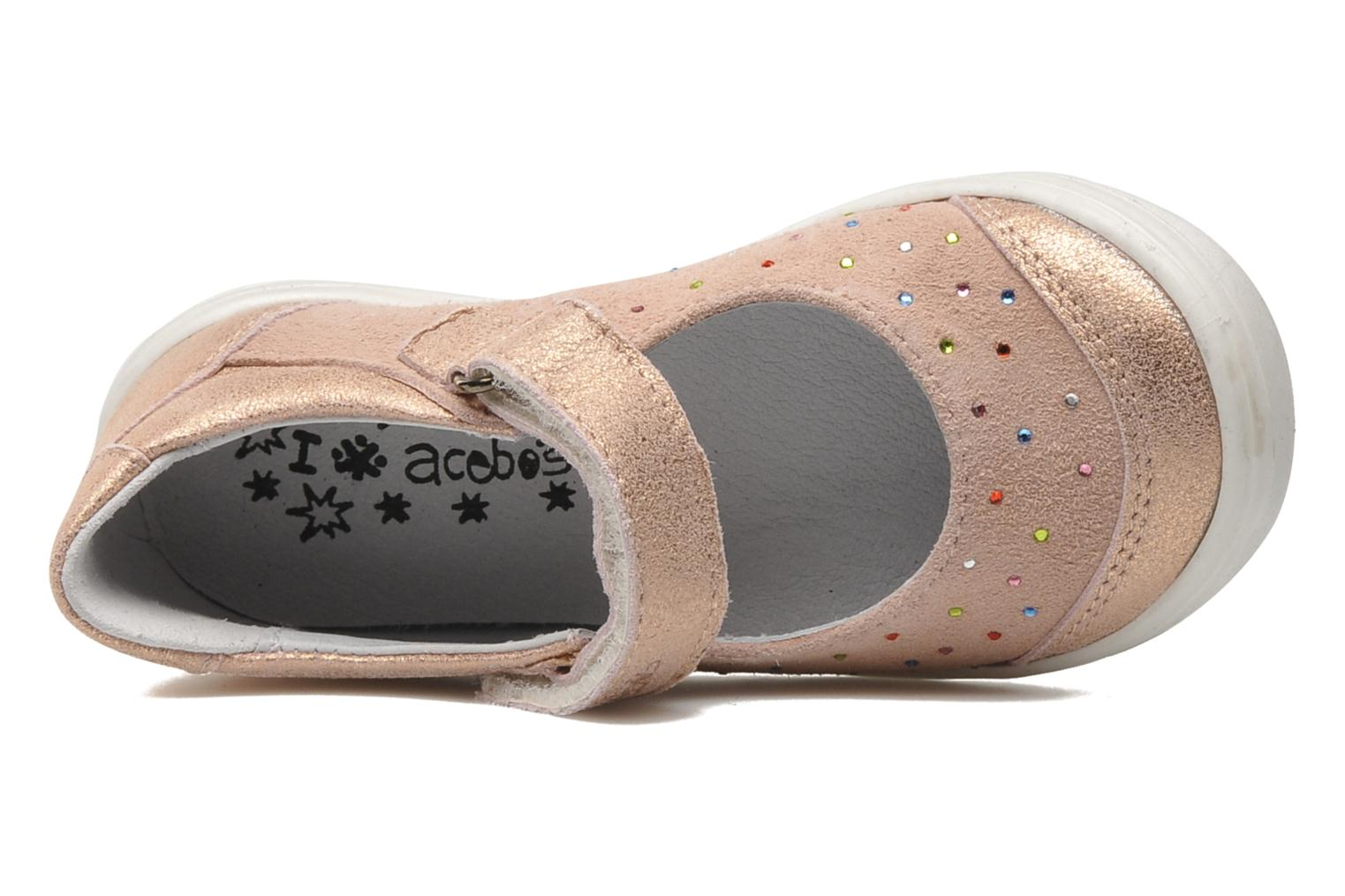Ballet pumps Acebo's Peony Pink view from the left