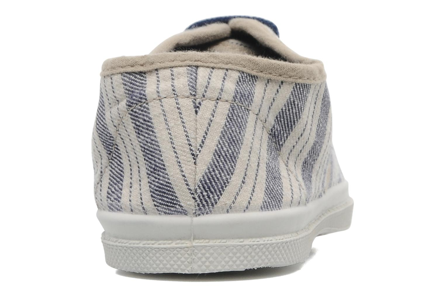 Trainers Bensimon Tennis Retro E Blue view from the right