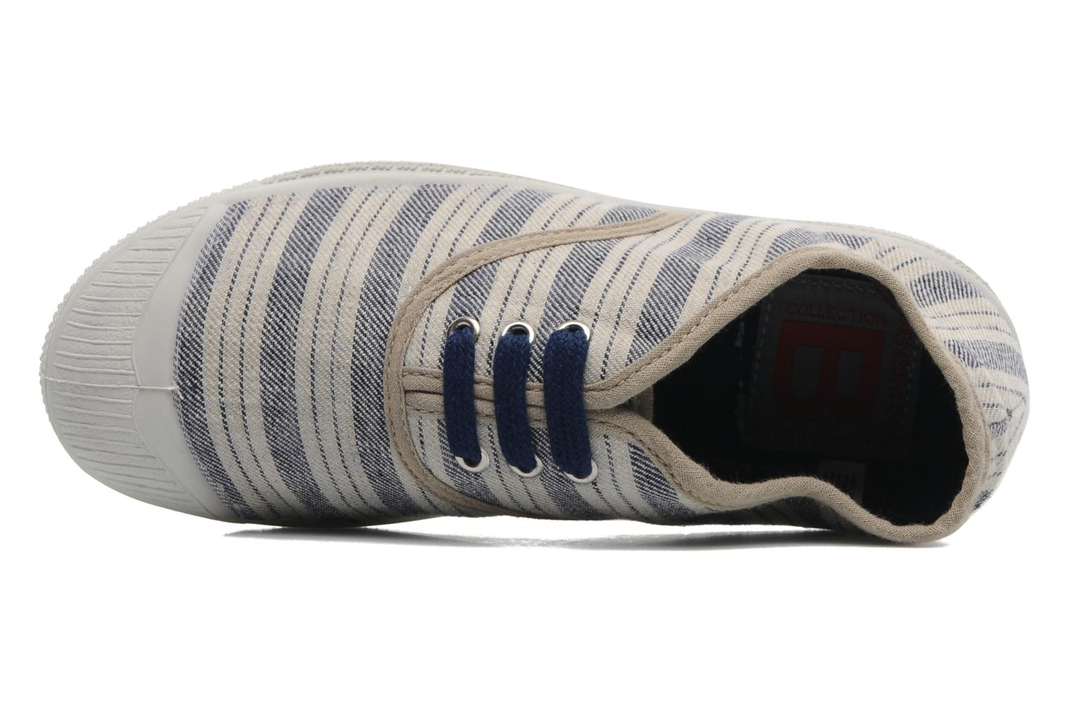 Trainers Bensimon Tennis Retro E Blue view from the left
