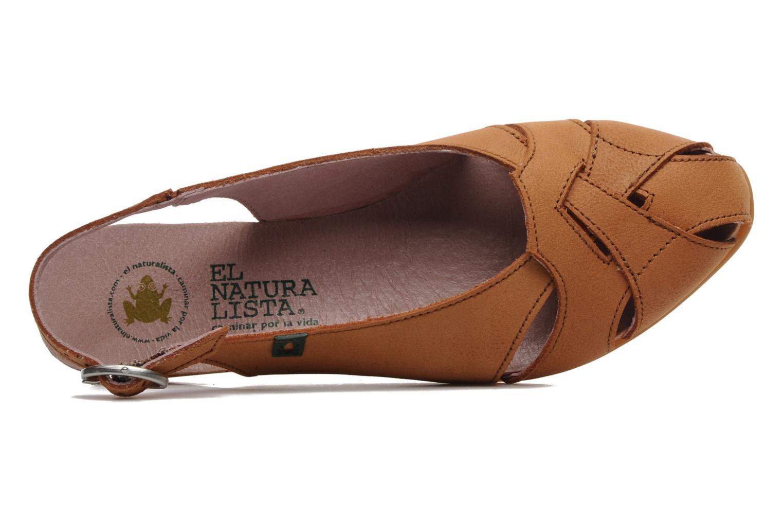 Sandales et nu-pieds El Naturalista Stella 031 Orange vue gauche