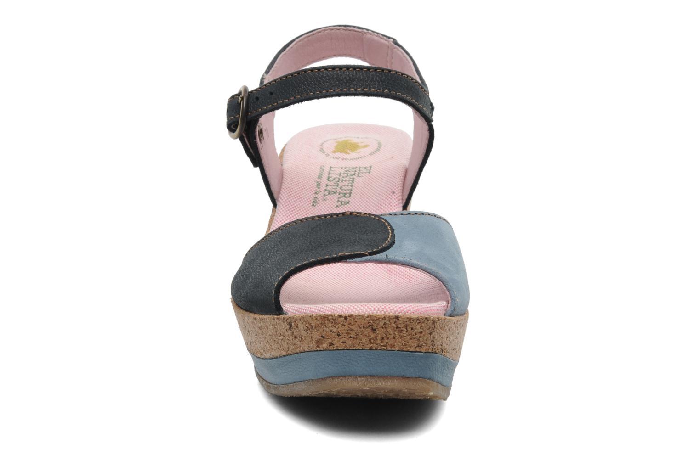 Sandales et nu-pieds El Naturalista Anura N591 Bleu vue portées chaussures