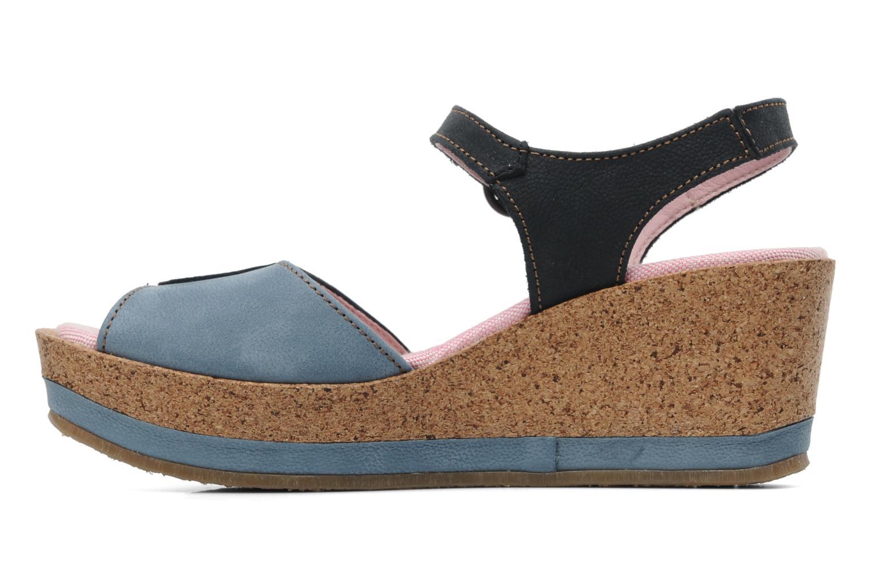 Sandales et nu-pieds El Naturalista Anura N591 Bleu vue face