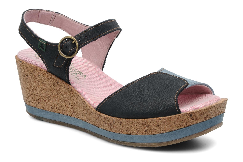 Sandales et nu-pieds El Naturalista Anura N591 Bleu vue détail/paire