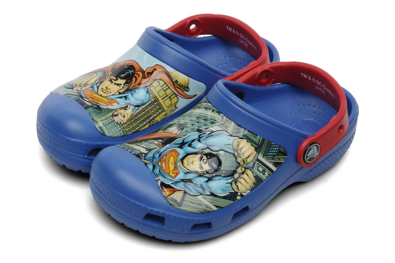 Sandales et nu-pieds Crocs CC Superman Clog Boys Bleu vue 3/4