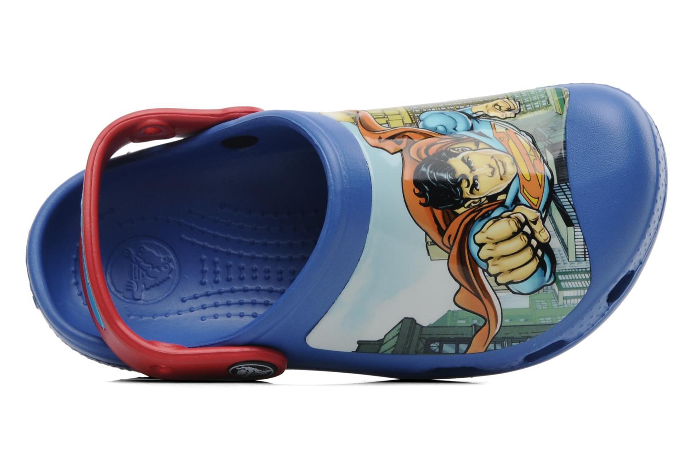 Sandalen Crocs CC Superman Clog Boys blau ansicht von links