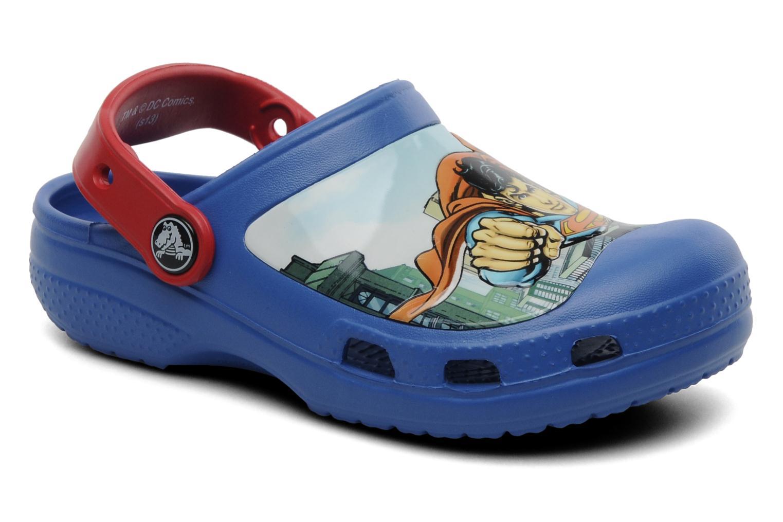 Sandales et nu-pieds Crocs CC Superman Clog Boys Bleu vue détail/paire