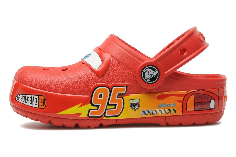 Sandales et nu-pieds Crocs Crocband Lights Cars Clog Rouge vue face
