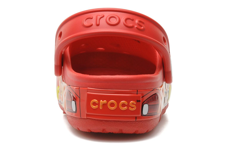 Sandales et nu-pieds Crocs Crocband Lights Cars Clog Rouge vue droite
