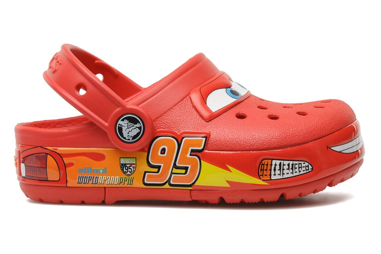 Sandales et nu-pieds Crocs Crocband Lights Cars Clog Rouge vue derrière
