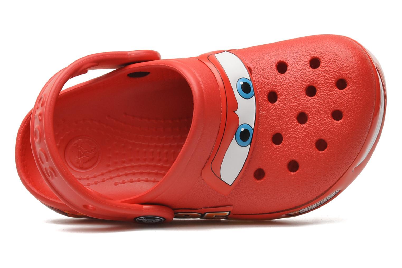Sandales et nu-pieds Crocs Crocband Lights Cars Clog Rouge vue gauche