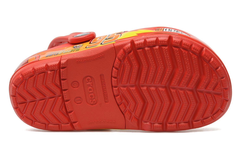 Sandales et nu-pieds Crocs Crocband Lights Cars Clog Rouge vue haut