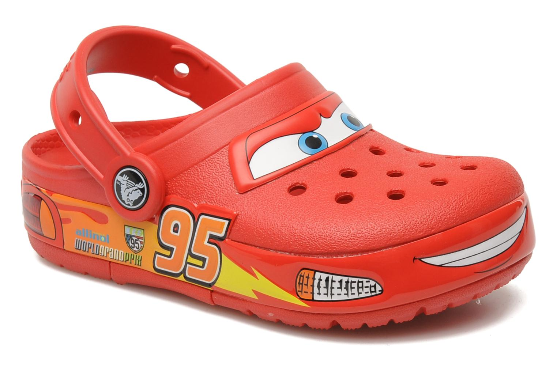 Sandales et nu-pieds Crocs Crocband Lights Cars Clog Rouge vue détail/paire