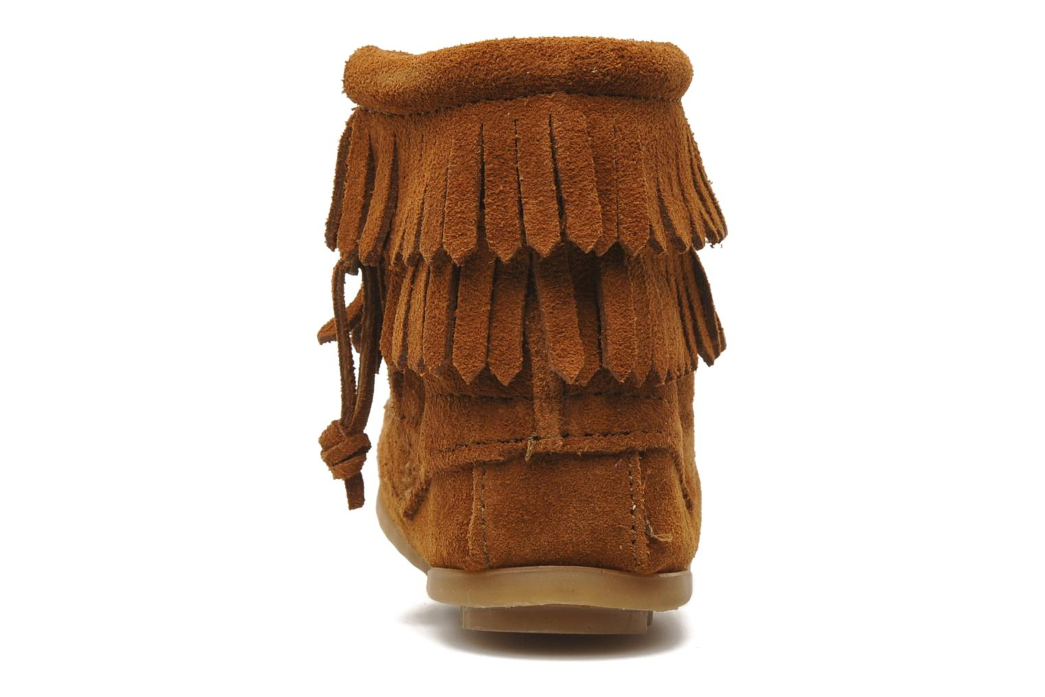 Ankle boots Minnetonka Double Fringe bootie G Brown view from the right