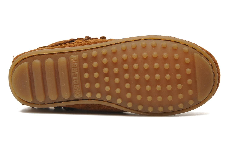 Stiefeletten & Boots Minnetonka Double Fringe bootie G braun ansicht von oben