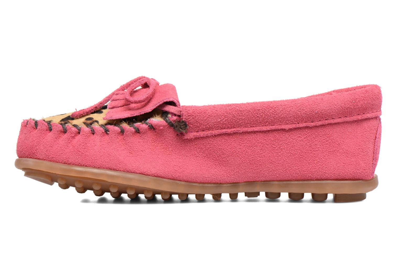 Loafers Minnetonka Leopard Kilty Moc G Pink se forfra