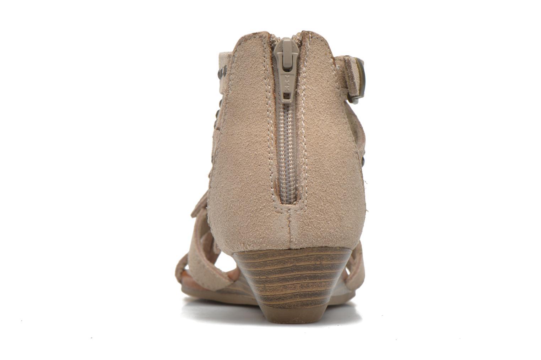 Sandales et nu-pieds Minnetonka Monaco Beige vue droite