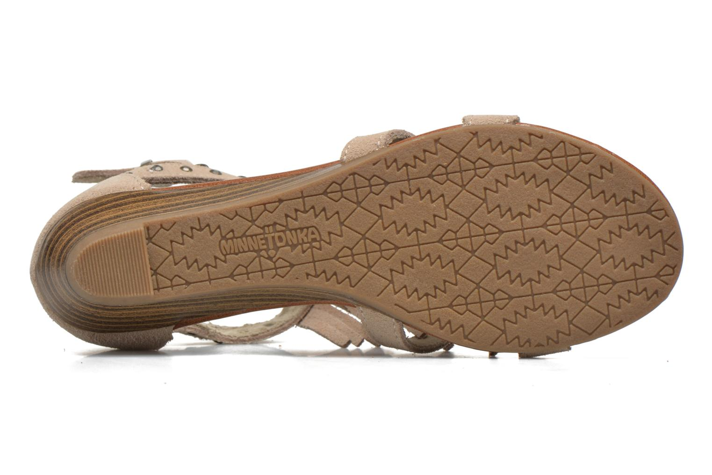 Sandales et nu-pieds Minnetonka Monaco Beige vue haut