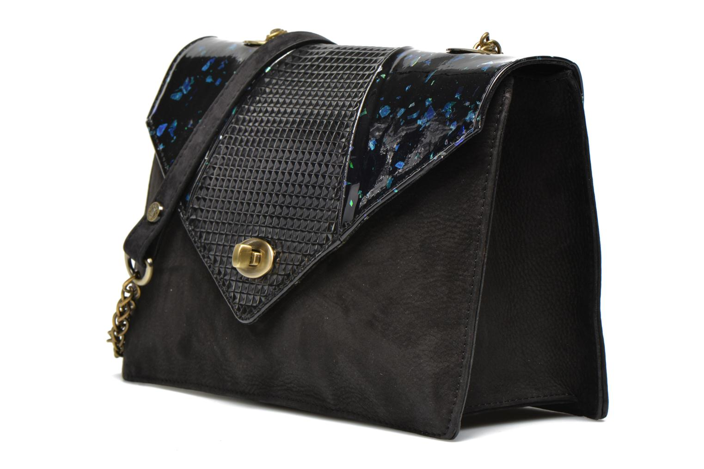 Handtaschen Mohekann Odyssée schwarz schuhe getragen