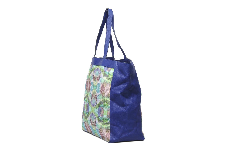 Handtaschen Mohekann Gimmick blau schuhe getragen