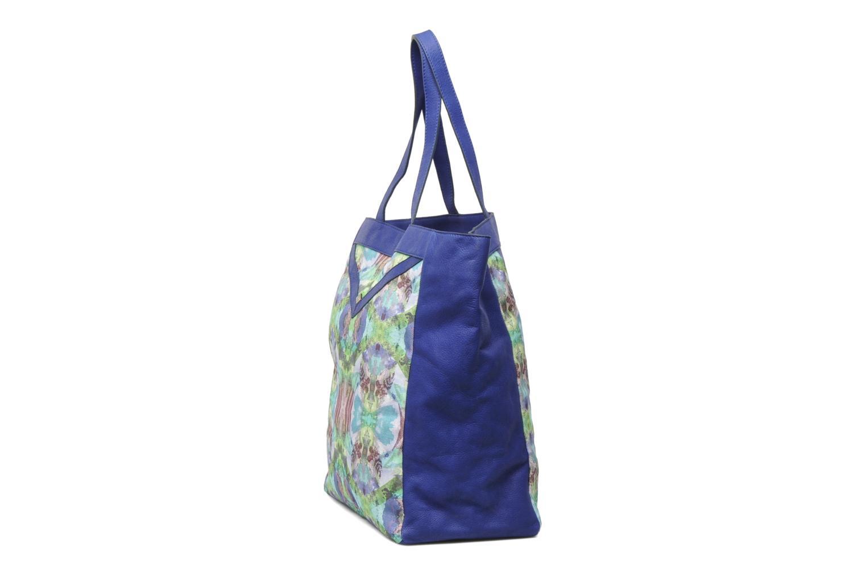 Handtaschen Mohekann Gimmick blau ansicht von rechts