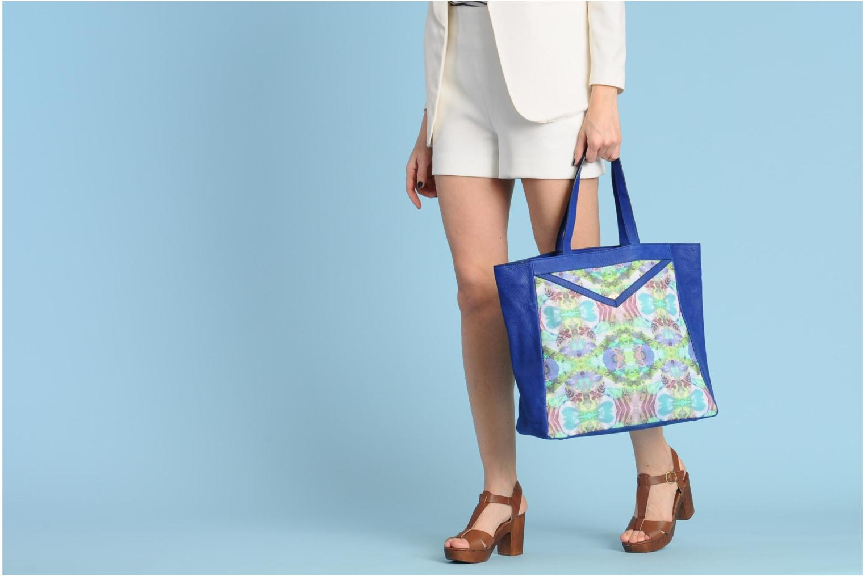 Handtaschen Mohekann Gimmick blau ansicht von oben