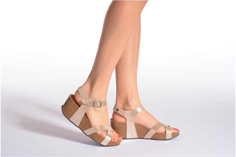 Sandales et nu-pieds Plakton So fine Argent vue bas / vue portée sac