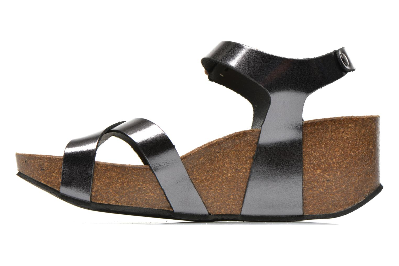Sandales et nu-pieds Plakton So fine Argent vue face