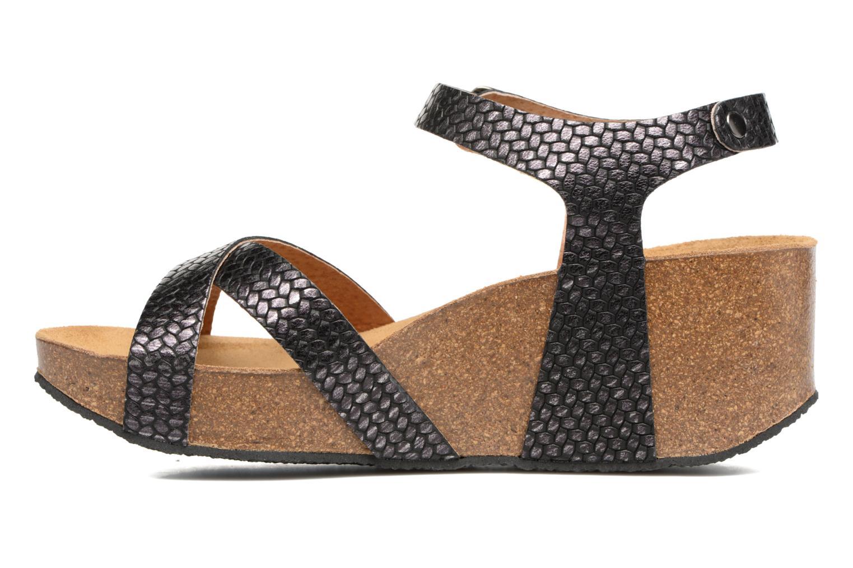 Sandales et nu-pieds Plakton So fine Noir vue face