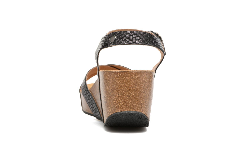 Sandales et nu-pieds Plakton So fine Noir vue droite