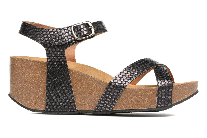 Sandales et nu-pieds Plakton So fine Noir vue derrière