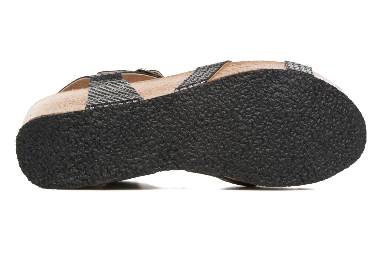 Sandales et nu-pieds Plakton So fine Noir vue haut