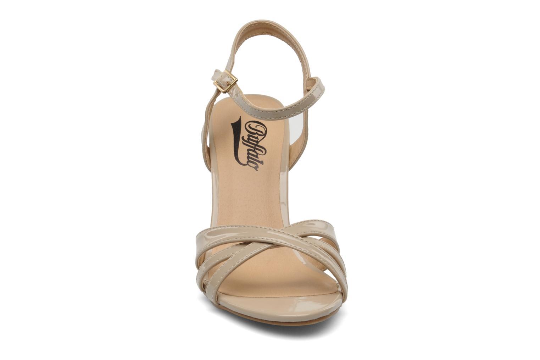 Sandalen Buffalo Balby beige schuhe getragen