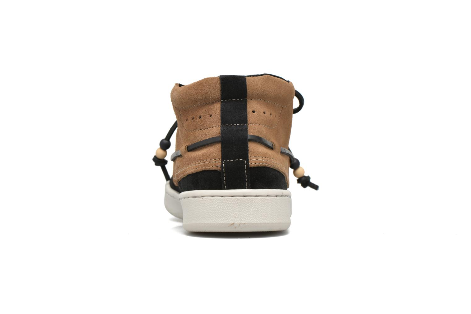 Landom Hi M Black / Brown Suede