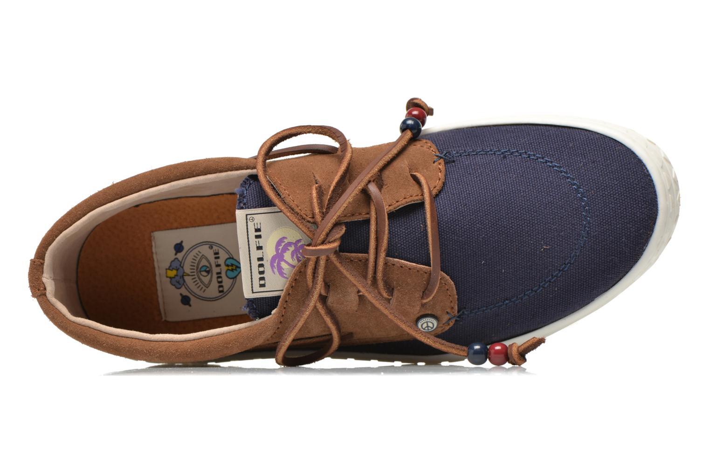 Zapatos con cordones Dolfie Dylan M Azul vista lateral izquierda
