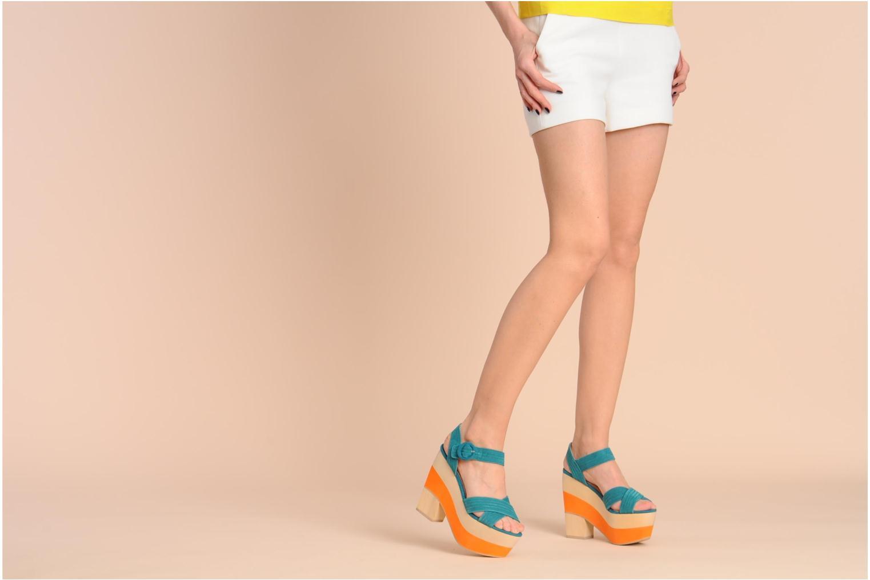 Sandales et nu-pieds Shellys London STRUDA Vert vue bas / vue portée sac