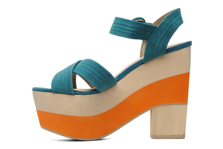 Sandales et nu-pieds Shellys London STRUDA Vert vue face
