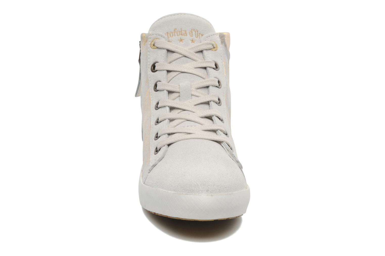 Baskets Pantofola d'Oro Viola mid Gris vue portées chaussures