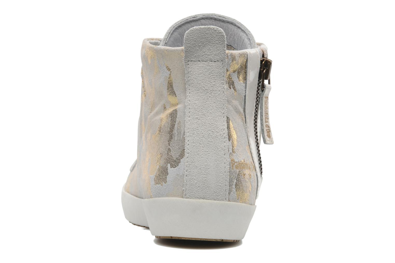 Baskets Pantofola d'Oro Viola mid Gris vue droite