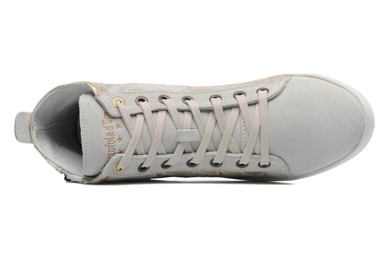 Baskets Pantofola d'Oro Viola mid Gris vue gauche