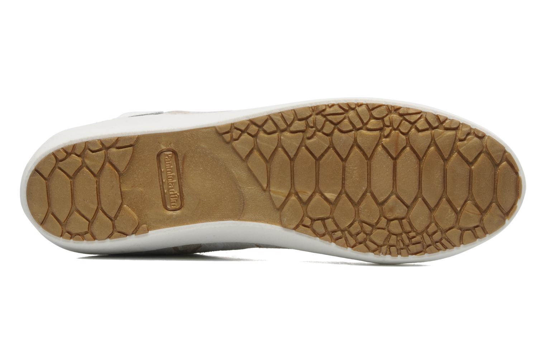 Baskets Pantofola d'Oro Viola mid Gris vue haut