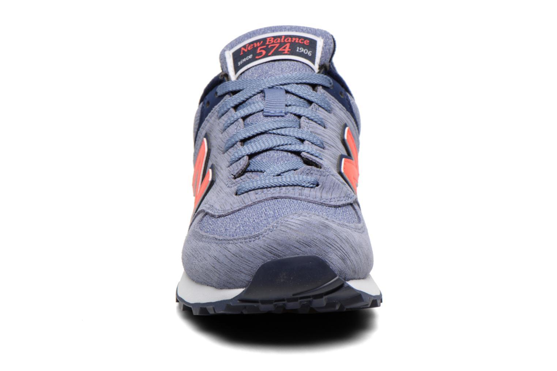 Sneaker New Balance WL574 lila schuhe getragen