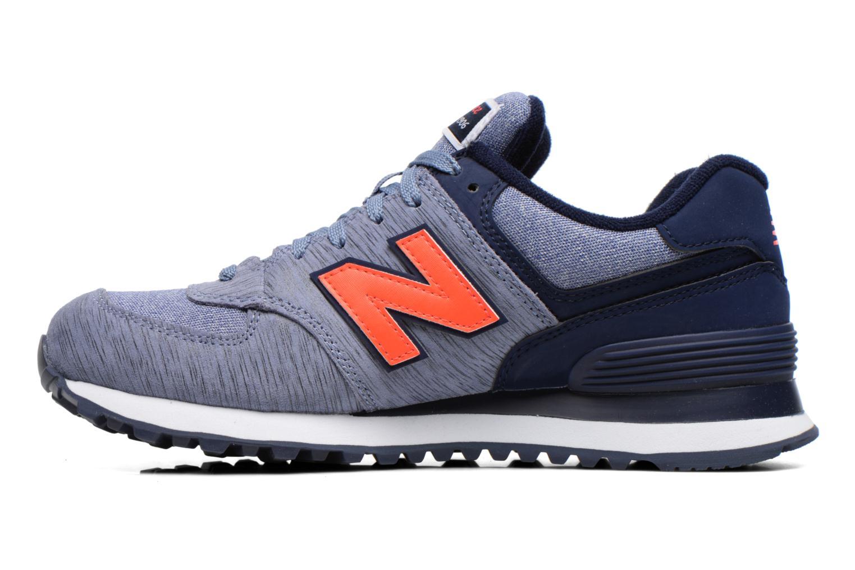 Sneaker New Balance WL574 lila ansicht von vorne
