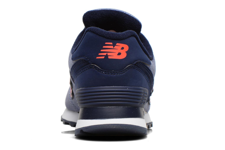 Sneaker New Balance WL574 lila ansicht von rechts