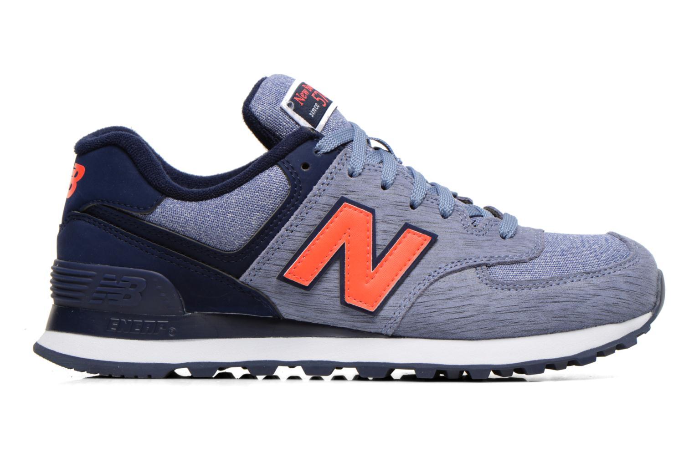 Sneaker New Balance WL574 lila ansicht von hinten