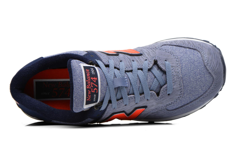 Sneaker New Balance WL574 lila ansicht von links