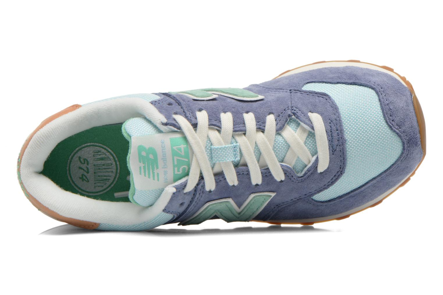 Sneakers New Balance WL574 Blauw links