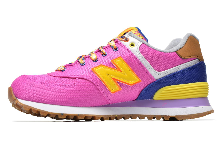 Sneaker New Balance WL574 rosa ansicht von vorne
