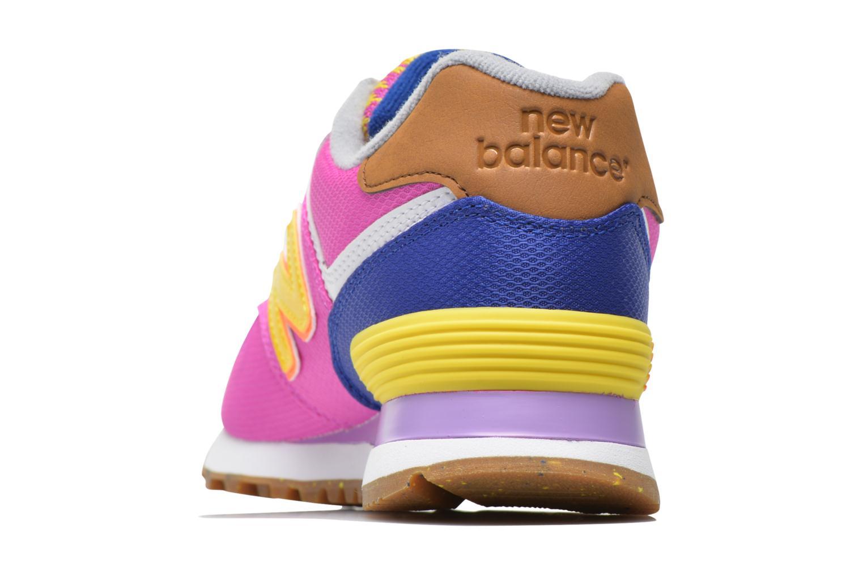 Sneaker New Balance WL574 rosa ansicht von rechts